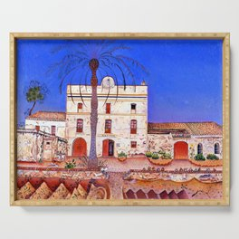 Joan Miro House with Palm Tree Serving Tray