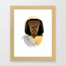 Worf Framed Art Print