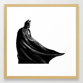 The hero Gotham deserves Framed Art Print