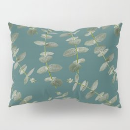 Eucalyptus Patterns with Aqua Background Realistic Botanic Patterns Organic Design with Real Plants Pillow Sham