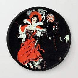 To jail Paris nightlife 1897 Wall Clock