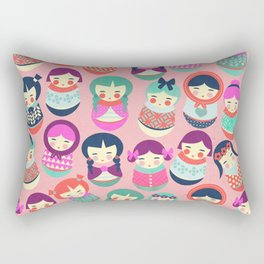 Babushka Russian doll pattern Rectangular Pillow