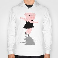 piglet Hoodies featuring Pig Ballerina by mailboxdisco