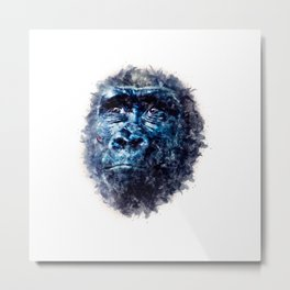 Monkey Watercolor painting Art Metal Print