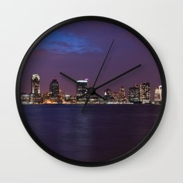 New Jersey Skyline Wall Clock