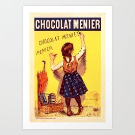 Chocolat Menier Vintage Art Print