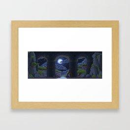 Pixel Place - Ravine Framed Art Print