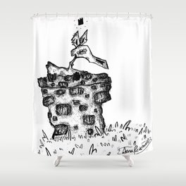 the man in the well Shower Curtain
