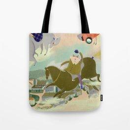 The Merry-Go-Round at Cesenatico. Original illustartion print Tote Bag