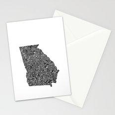 Typographic Georgia Stationery Cards