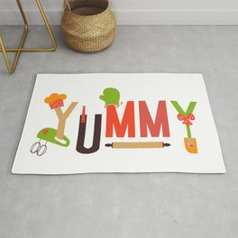 Yummy Art Print Set Kitchen Art Living Room Interior Design Printing for Wall Home Decor In Green Be Rug