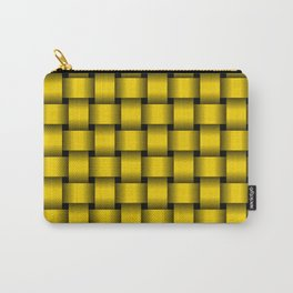 Gold Yellow Weave Carry-All Pouch