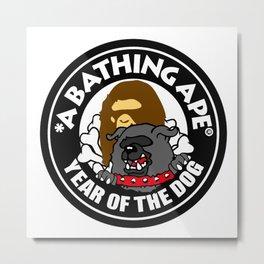 A Bathing ape and Dog Metal Print