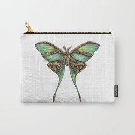 Steampunk Green Luna Moth Carry-All Pouch