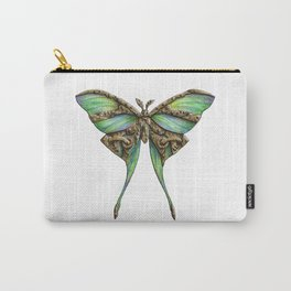 Steampunk Green Luna Moth Carry-All Pouch