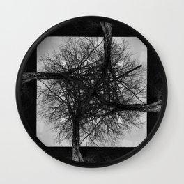 Fractal Tree Confusion Wall Clock