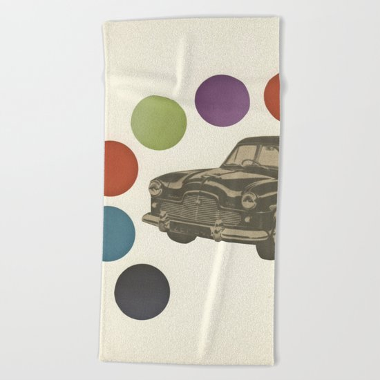 Driving Around in Circles Beach Towel
