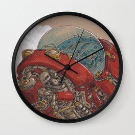 Red Ship Rising Wall Clock