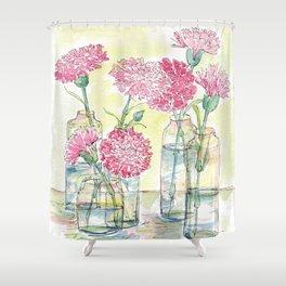 Pink Carnations, Still Life Shower Curtain