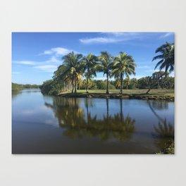 Lagoon Palms Canvas Print
