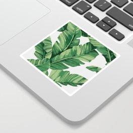 Tropical banana leaves Sticker