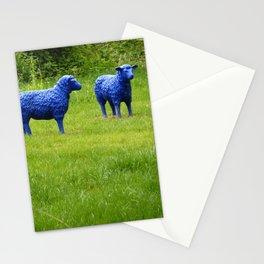 blue sheep Stationery Cards