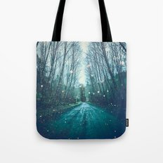 Nature Path - Vintage Magical Fairy Light Trail Tote Bag