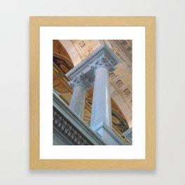 Senate Columns Framed Art Print