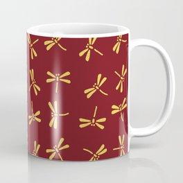 Japanese Dragonflies - Crimson and Gold Coffee Mug