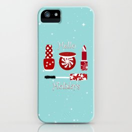 Super Cute Makeup Holiday Design iPhone Case