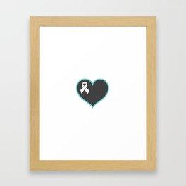 Cancer Ribbon Heart Framed Art Print