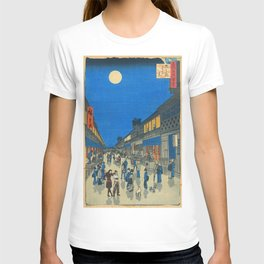 Night View of Saruwaka Town Asami and Korra T-shirt