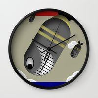 propaganda Wall Clocks featuring Propaganda Poster by AWOwens