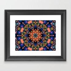 BBQSHOES: Kaleidoscopic Fractal Digital Art Design 1702K Framed Art Print