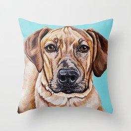 Kovu the Dog's pet portrait Throw Pillow