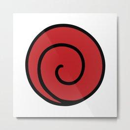 Uzumaki Clan Logo - Naruto Metal Print