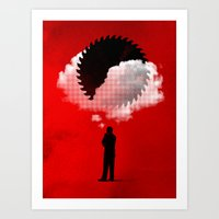 bad idea Art Prints featuring Bad Idea by rob dobi