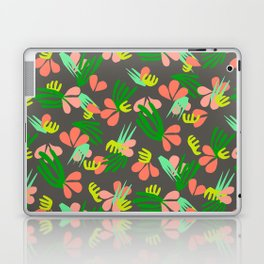 Henri's Garden in gray // tropical flora pattern Laptop & iPad Skin