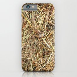 Hay texture iPhone Case