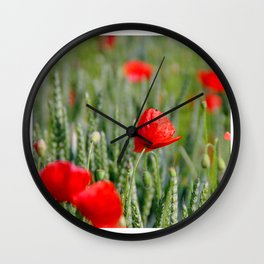 mohnblume Wall Clock