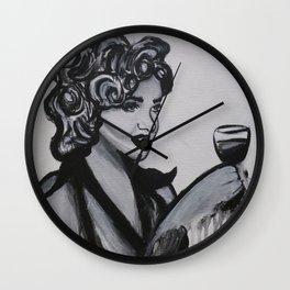 Hollywood Wine Wall Clock