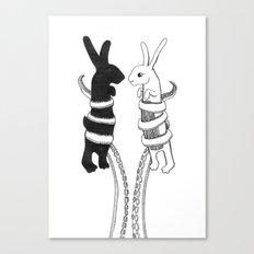 Rabbits vs Octopus Canvas Print