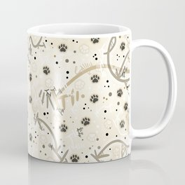 Vanilla Bean Paw Prints Coffee Mug