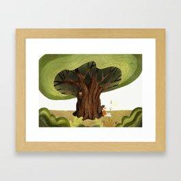 The magic book Framed Art Print