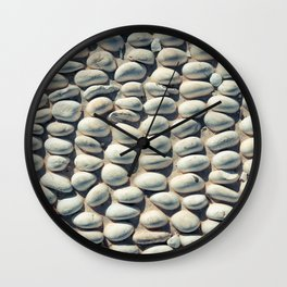 White Pebble Wall Clock