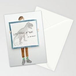 Life Finds a way, Jurassic park print Stationery Cards