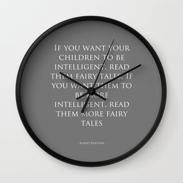 Read Them Fairytales - Albert Einstein Wall Clock