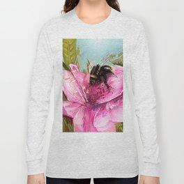 Bee on flower 17 Long Sleeve T-shirt