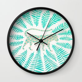 Jaguar – Turquoise & Mint Palette Wall Clock