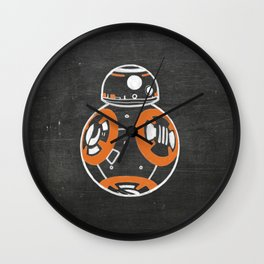 Chalkboard BB-8 (Orange) Wall Clock